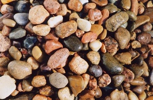 Pin by betty kubesch on for the home pinterest for Smooth stones for landscaping
