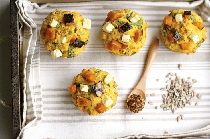 Savory Pumpkin and Feta Muffins. These look AMAZING. I will have to ...