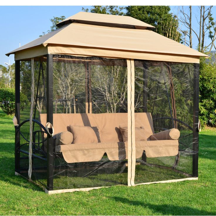 Canopy Tent Bench Swing Seat Chair Daybed Outdoor Patio Furniture Yar…