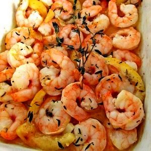 Roasted Lemon Garlic Herb Shrimp full recipe at http://recipehub.net ...