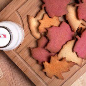 ... leaf sugar cookies in ginger, raspberry and orange cinnamon flavours