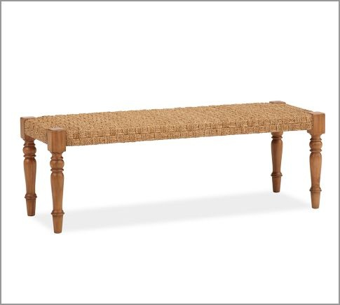 Norwich Woven Bench Pottery Barn Interiors Pinterest