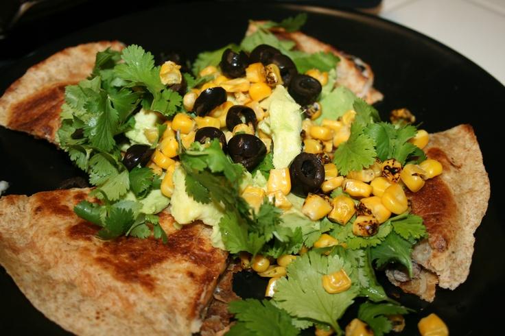 Chicken, Black Bean, Avocado And Cheese Quesadillas Recipe ...