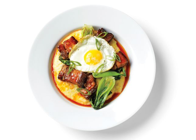 The Belly Buster - Bon Appétit: PORK BELLY, CHEESE GRITS, BACON ...