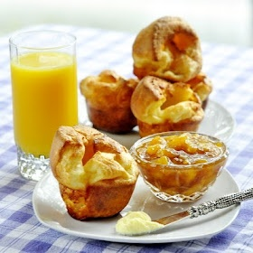 Perfect Popovers...for Breakfast! With Peach Five Spice Vanilla Jam