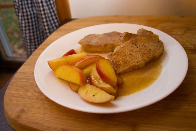 Apple-Stuffed Pork Chops With Cider Sauce Recipe — Dishmaps