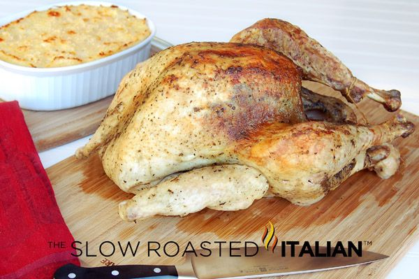 The Slow Roasted Italian: Simple Herb Roasted Turkey