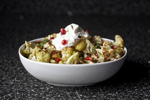 Cumin Seed Roasted Cauliflower with Yogurt by smittenkitchen: Perfect ...