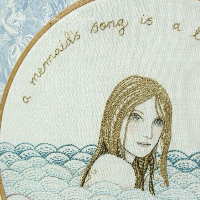 mermaid embroidered art | Flickr - Photo Sharing!