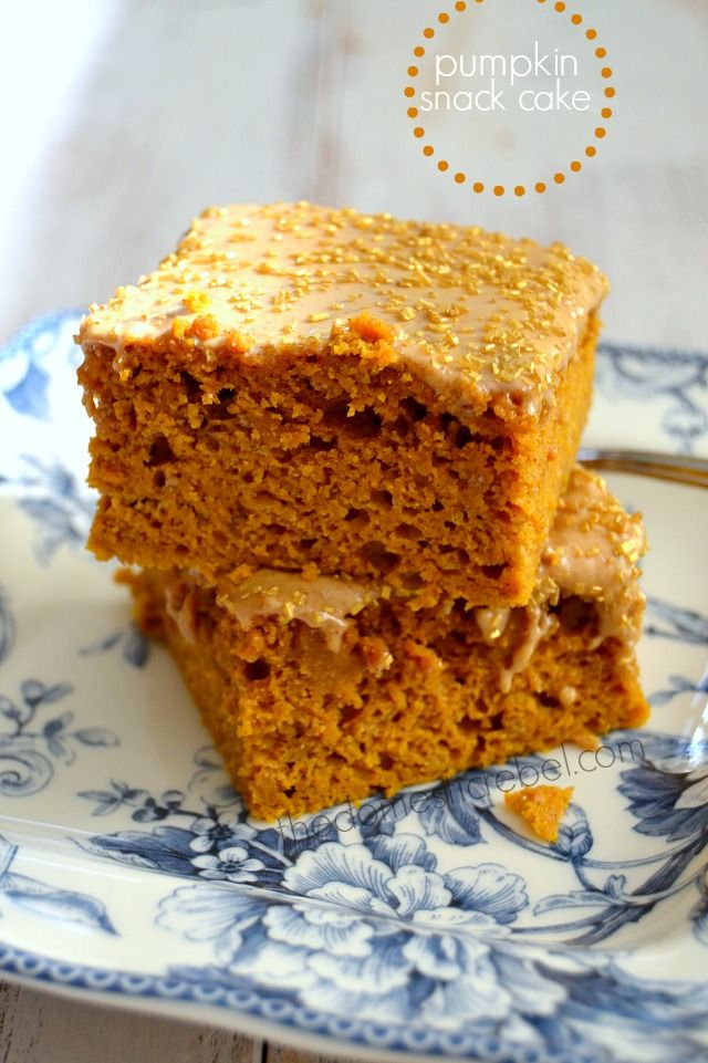 Pumpkin Snack Cake - an easy and moist pumpkin cake that works for ...