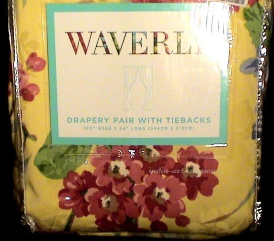 waverly yellow floral curtains | For the Home | Pinterest