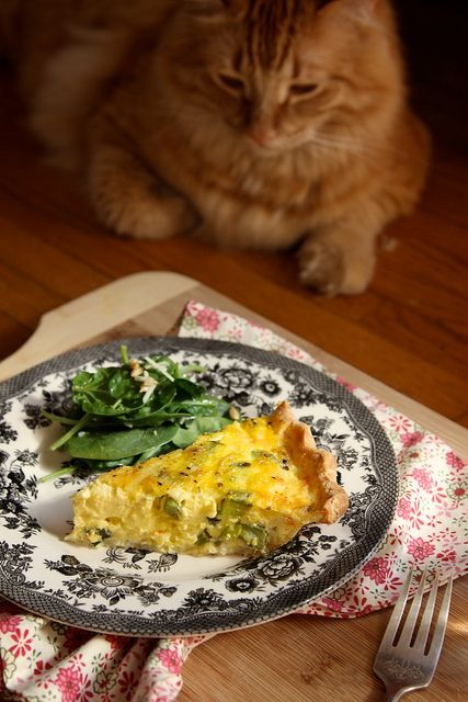 Gluten Free Asparagus Quiche (Cup for Cup GF flour, French Laundry)