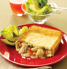 DEEP DISH CHICKEN PIE. A traditional prebaked, family size pie ...