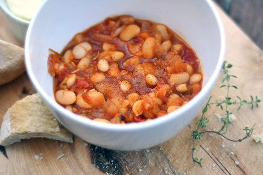 Slow-Cooked Tomato and Herb White Beans — Recipe Review