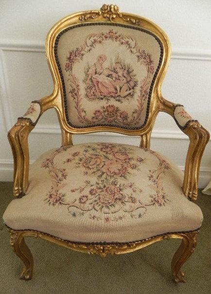 French Louis XV Chair History Louis XV