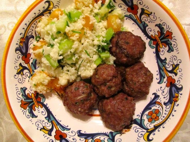 Paleo Indian Spiced Lamb Meatballs | b12 | Pinterest