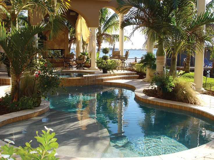 Tanning Ledge And Spa Pool Landscaping Pinterest