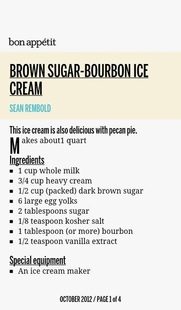 Brown Sugar Bourbon Ice Cream | recipes | Pinterest
