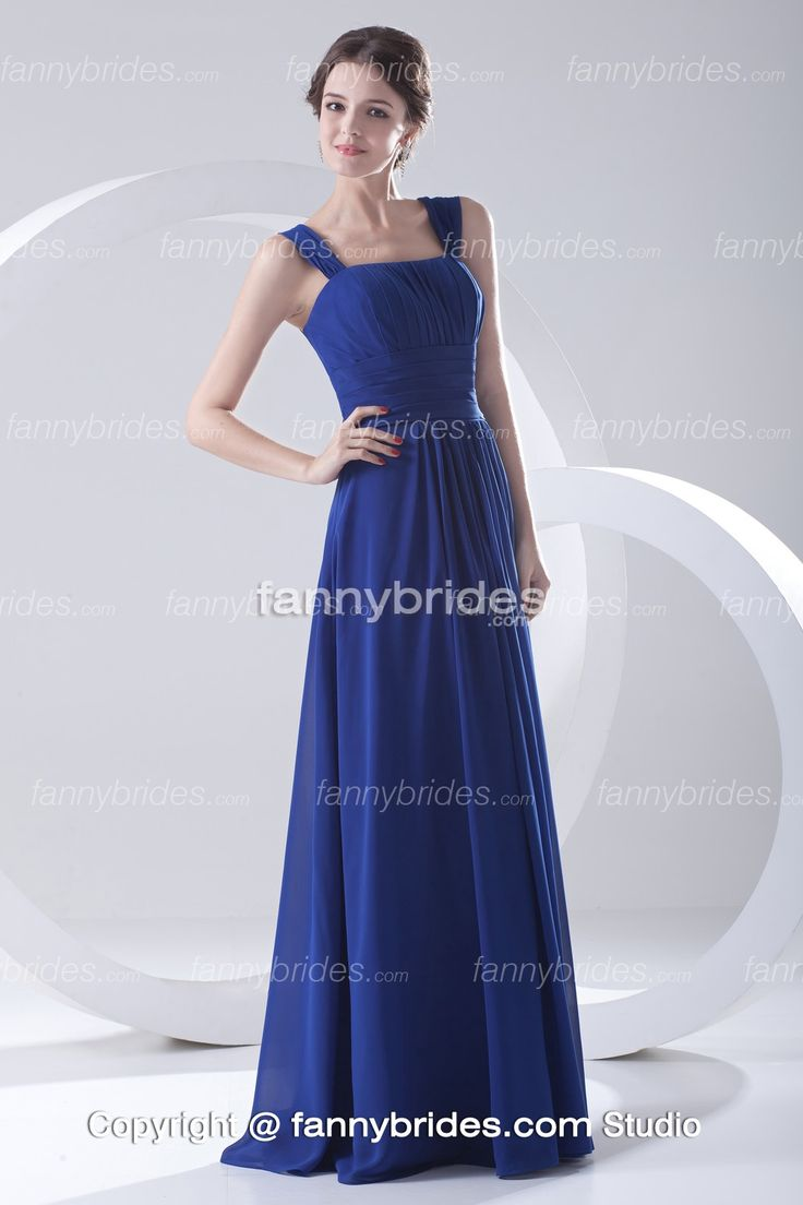 Ocean blue chiffon bridesmaid dress bridesmaids dresses for Ocean blue wedding dress