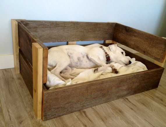 Reclaimed wood pet bed frame by thepetcottage on etsy 60 for Recycled wood bed