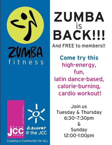 Keep text on one side and the zumba logo with a bright color    Zumba Flyers