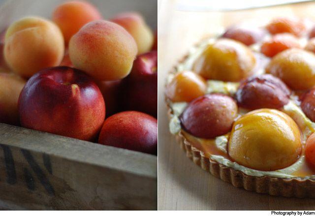 Stone fruit and crème fraiche tart | Pie!!! | Pinterest