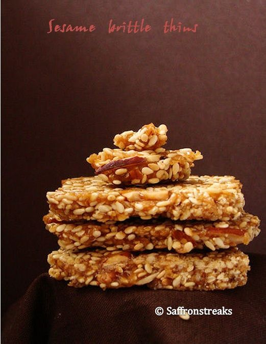 sesame brittle | Holidays/Special Occasions Food & Decor | Pinterest