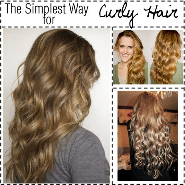 The Simplest Way for NO HEAT Curly Hair my-style