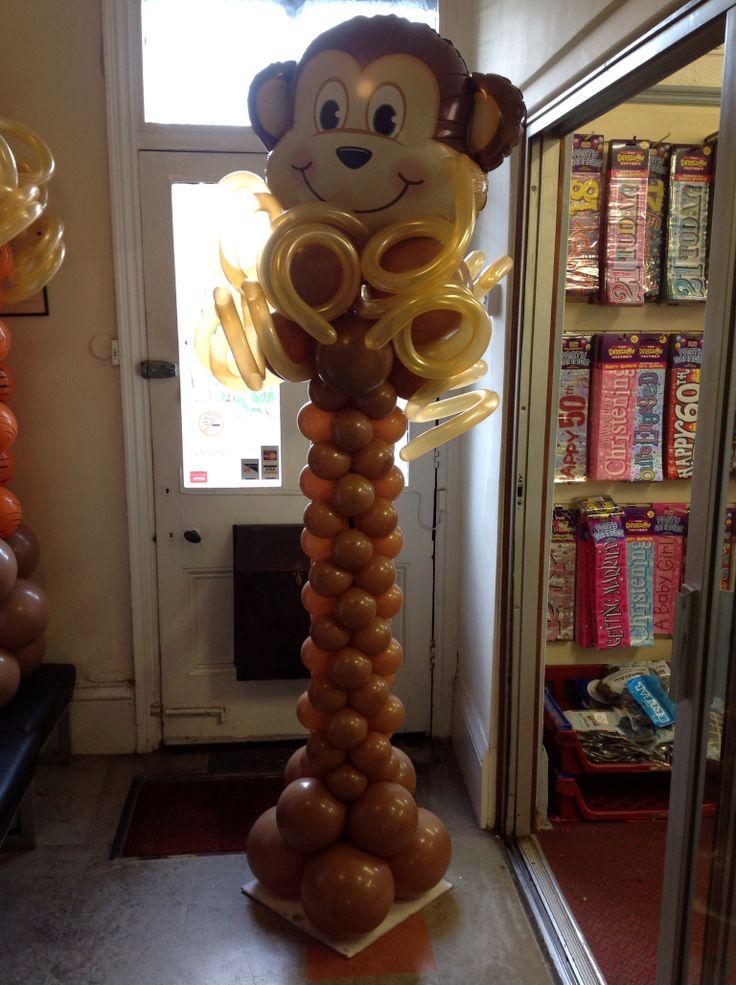 monkey balloon tower