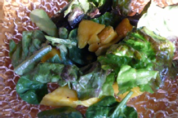 Avocado and Mango Salad with Passion Fruit Vinaigrette..simple, simple ...