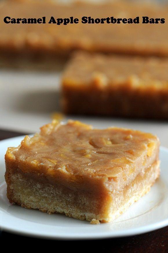 Caramel Apple Shortbread Bars. | desserts | Pinterest