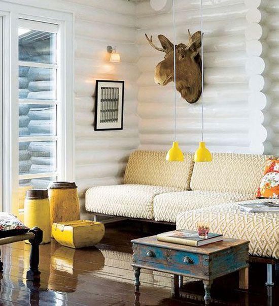 Revamped Log Cabin Interiors Pinterest