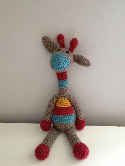 Amigurumi Stuffed Animals Patterns : Karl the Giraffe - Small Amigurumi Stuffed Animal Crochet ...