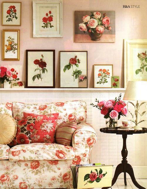 Vintage Rose decorating for the cottage!
