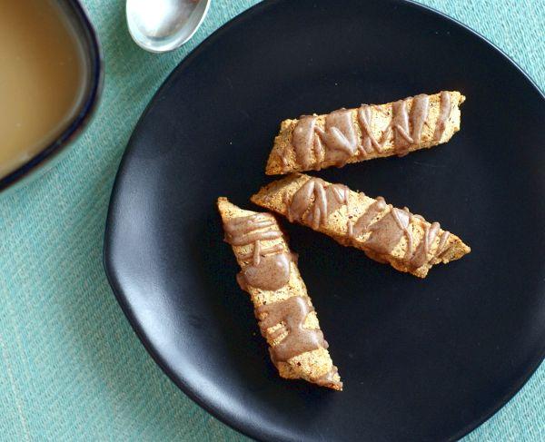 Grain-Free Hazelnut Biscotti with Cinnamon Glaze