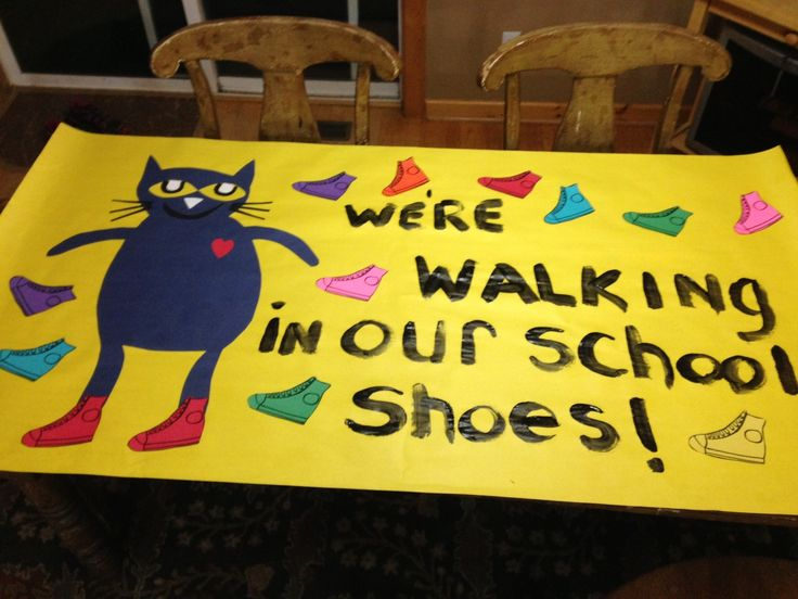 Banner we made for our Walk-a-thon fundraiser