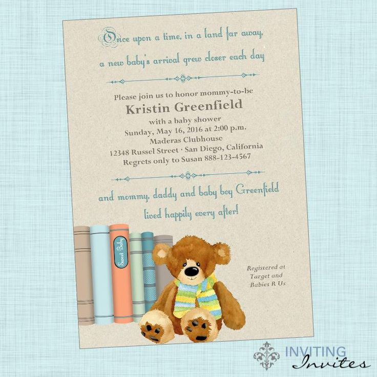 time baby shower theme once upon a time boy baby shower invitation