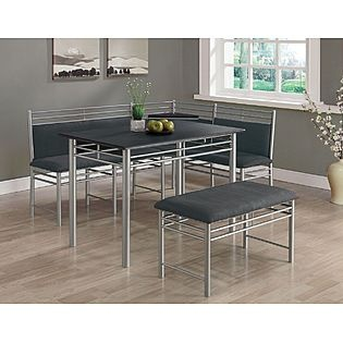 Booth style dining set in the house pinterest - Kitchen booth sets ...