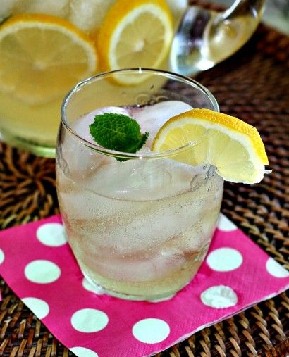 sparkling ginger lemonade. I wonder if this would be any good w ...