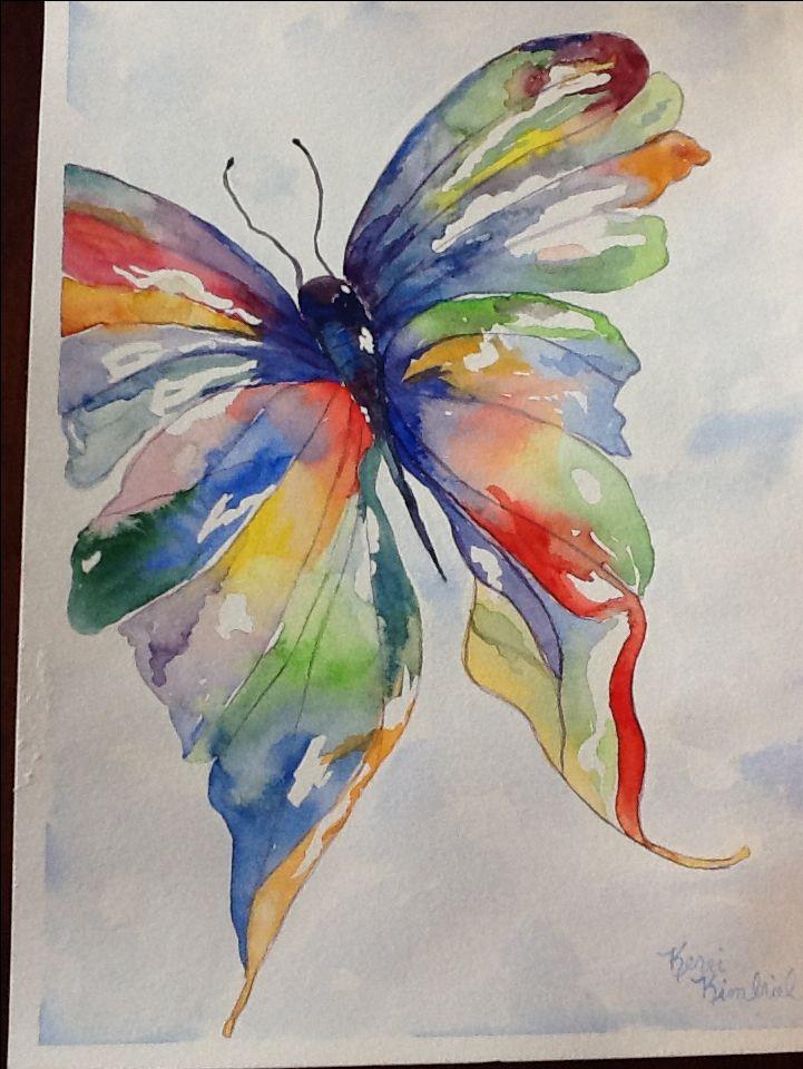 Easy Watercolor Paintings Of Butterflies Watercolor Butterfly  ...