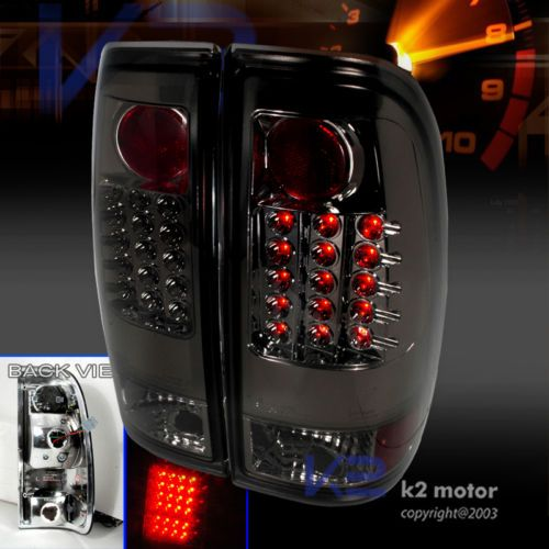 1997 2003 ford f150 f250 led tail lights brake lamp smoke pair 103 0. Black Bedroom Furniture Sets. Home Design Ideas