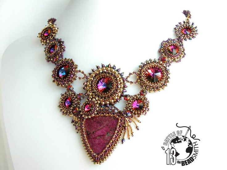 Necklace bead embroidery art pinterest