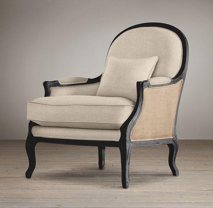 Lyon chair with burlap chairs restoration hardware living room