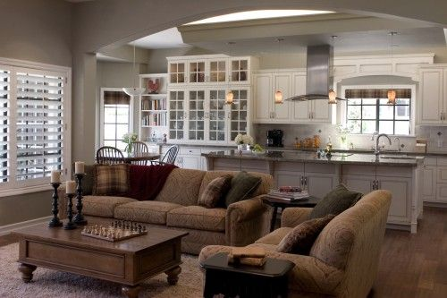 Kitchen Family Room Open And Lovely Home Decor Pinterest