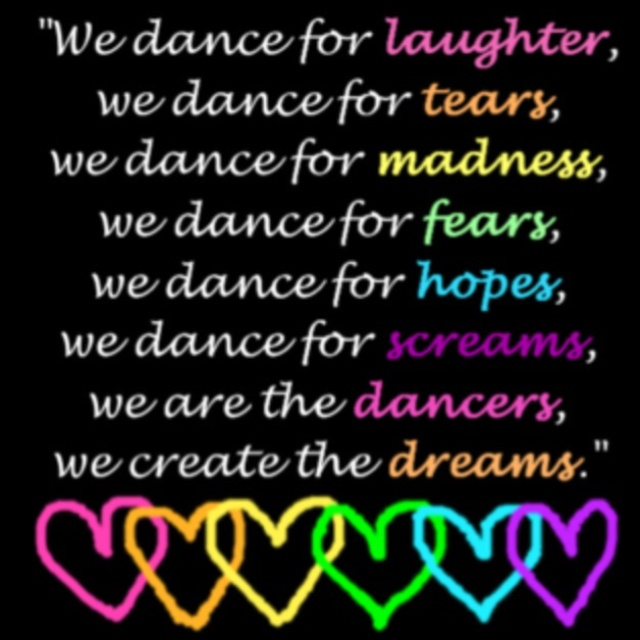 why do you dance Why do you dance please list some reasons why you dance please mention the dance classes you take, and number the reasons if you take pointe classes, how does it feel to dance on point  why do i dance i dance for the fun of it to express myself to have fun with my dance friends.