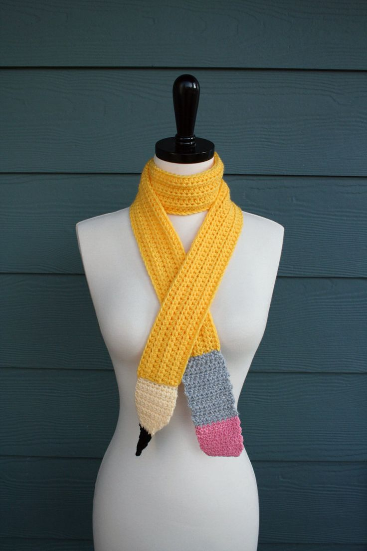 Knitting Pattern For Pencil Scarf : Pencil Scarf Crochet Scarf Pattern PDF Made In USA