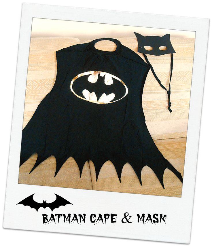 DIY Batman Cape Mask