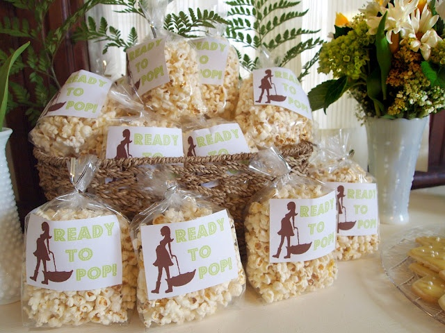 popcorn baby shower party favors baby pinterest