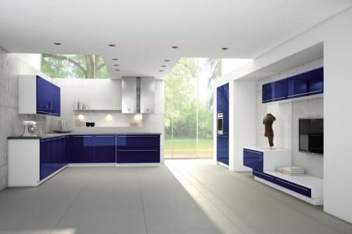 crazy cobalt blue cabinets!  Dream Home  Pinterest