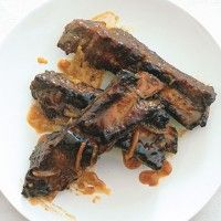 ... Beef Stroganoff with Wild Mushrooms on Sourdough Toasts - Bon Appétit